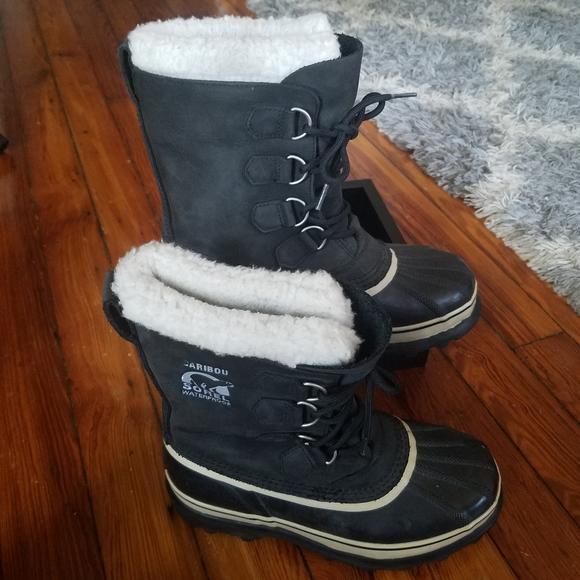 Sorel Caribou Waterproof Sherpa Winter Boots 8
